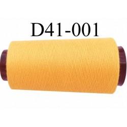 Cone ( en Destockage ) de fil  polyester  fil n° 70/2 couleur jaune longueur du cone 2000 mètres bobiné en France