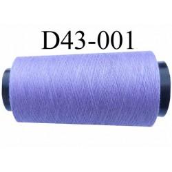 Cone ( en Destockage ) de fil  polyester  fil n° 70/2 couleur lilas violine longueur du cone 1000 mètres bobiné en France