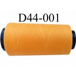Cone ( en Destockage ) de fil  polyester  fil n° 70/2 couleur orange longueur du cone 2000 mètres bobiné en France
