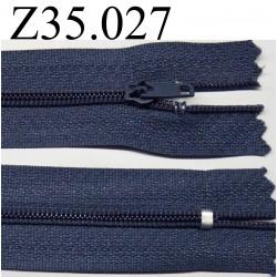 fermeture éclair  longueur 35 cm couleur  bleu non  séparable zip nylon  largeur 2.5 cm
