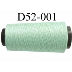 Cone ( en Destockage ) de fil  polyester  fil n° 70/2 couleur vert longueur du cone 2000 mètres bobiné en France