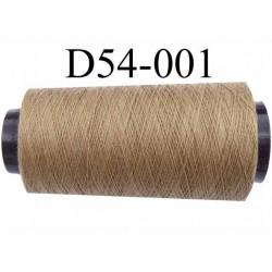 Cone ( en Destockage ) de fil  polyester  fil n°35 couleur beige foncé longueur du cone 2000 mètres bobiné en France