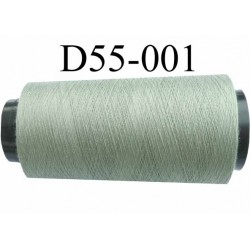 Cone ( en Destockage ) de fil  polyester  fil n° 70/2 couleur vert longueur du cone 1000 mètres bobiné en France