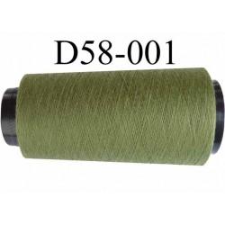 Cone ( en Destockage ) de fil  polyester  fil n° 120 couleur vert longueur du cone 2000 mètres bobiné en France