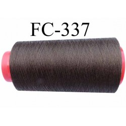Cone de fil  polyester continu fil n° 80/2 couleur marron bronze lumineux longueur du cone 1000 mètres bobiné en France
