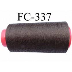 Cone de fil  polyester continu fil n° 120/2 couleur marron bronze lumineux longueur du cone 2000 mètres bobiné en France