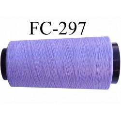 CONE de fil mousse Polyester texturé fil n° 120 couleur lilas violine longueur de 1000 mètres bobiné en France