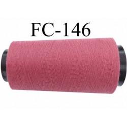 Cone de fil polyester fil n°120 couleur vieux rose longueur du cone 5000 mètres bobiné en France