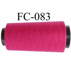 Cone bobine de fil polyester fil n°120 couleur rose fushia longueur du cone 1000 mètres bobiné en France