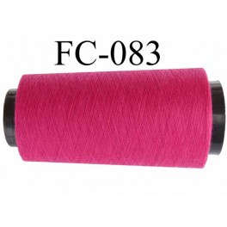 Cone de fil polyester fil n°120 couleur rose fushia longueur du cone 1000 mètres bobiné en France
