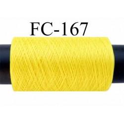 bobine de fil mousse polyamide fil n° 120 couleur jaune longueur de la bobine 500 mètres bobiné en France