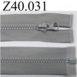 fermeture éclair  longueur 40 cm couleur gris  séparable zip nylon largeur 2.8 cm largeur du zip 4 mm
