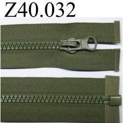 fermeture éclair  longueur 40 cm couleur vert  séparable zip nylon largeur 2.8 cm largeur du zip 4 mm