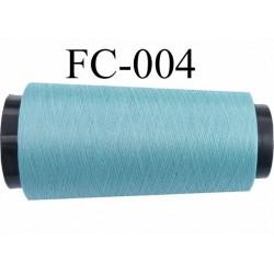 Cone bobine de fil polyester continu fil n° 120/3 couleur bleu longueur du cone 5000  mètres bobiné en france