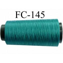 Cone bobine de fil mousse polyamide fil n° 100 2 couleur vert longueur du cone 2000 mètres bobiné en France