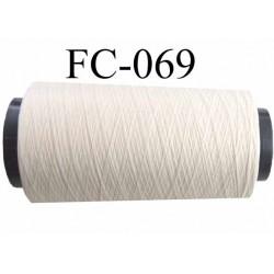 Cone bobine de fil mousse polyamide  fil n° 100/2 couleur ecru longueur du cone 2000 mètres  bobiné en France
