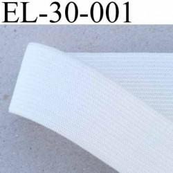 élastique 30 mm plat très belle qualité couleur blanc fabriqué en Europe largeur 30 mm prix au mètre