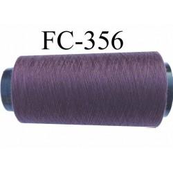 Cone ( Economique ) de fil  polyester  fil n°120 couleur lie de vin longueur 2000 mètres bobiné en France