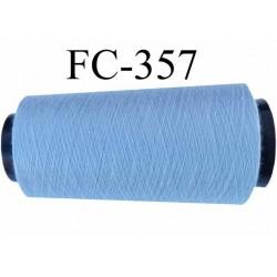 Cone ( Economique ) de fil  polyester  fil n°120 couleur bleu pale longueur 2000 mètres bobiné en France