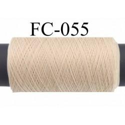bobine ou cone de fil mousse polyamide fil n° 120 couleur beige crème sable longueur de 500 mètres bobiné en France