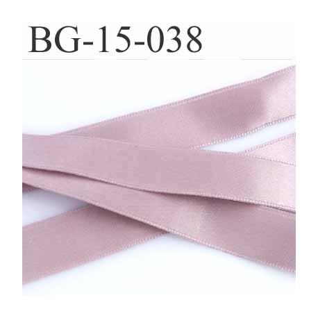 galon ruban satin couleur  vieux rose avec passe lien au sur une face superbe largeur 15 mm prix au mètre