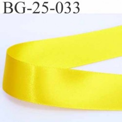 biais galon ruban satin brillant couleur jaune double face superbe très beau largeur 25 mm prix au mètre