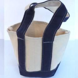 petit sac cabas en coton très solide  superbe à broder ou pas  couleur écru et bleu