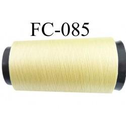 Cone de fil n°2/70 nylon couleur jaune longueur 2000 mètres bobiné en France