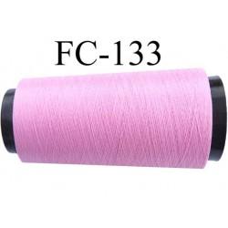 Cone de fil n°2/70 nylon couleur rose longueur 2000 mètres bobiné en France