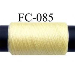 bobine de fil n°2/70 nylon couleur jaune longueur 200 mètres bobiné en France