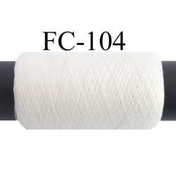bobine de fil résistant fin n° 80/2 polyester continu couleur naturel  très solide longueur bobine 500 mètres bobiné en france