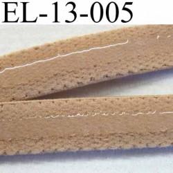 élastique plat bande anti glisse haut de gamme superbe qualité couleur peau ou maron clair largeur 13 mm  bande lastin  silicone
