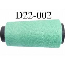 Cone ( en Destockage ) de fil  polyester  fil n° 70/2 couleur vert clair longueur du cone 2000 mètres bobiné en France