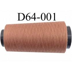 Cone ( en Destockage ) de fil  polyester  fil n° 70/2 couleur marron clair longueur du cone 1000 mètres bobiné en France