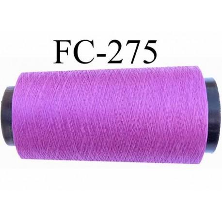 Cone de fil très résistant n° 35 polyester continu fushia violine brillant superbe  longueur 2000 mètres bobiné en France