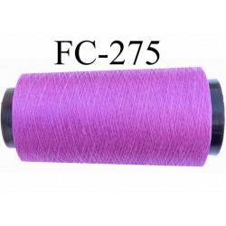 Cone de fil très résistant n° 35 polyester continu fushia violine brillant superbe  longueur 5000 mètres bobiné en France
