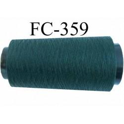 Cone de fil très résistant n° 35 polyester continu vert bouteille brillant superbe  longueur 2000 mètres bobiné en France