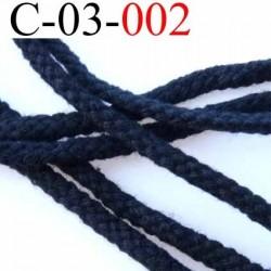 cordon en coton solide couleur noir diamètre 3 mm prix au mètre