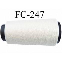 CONE de fil Polyester fil n° 120 couleur naturel  longueur de 1000 mètres bobiné en France