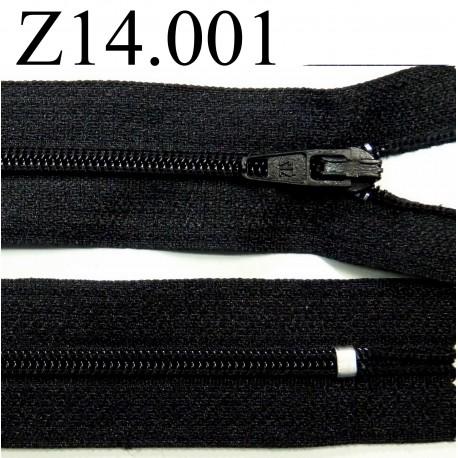 fermeture éclair  longueur 14 cm couleur noir non séparable zip nylon largeur 2.5 cm