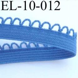 élastique picot dentelle plat largeur 10 mm couleur bleu largeur de bande 7 mm largeur de dentelle boucle 3 mm très beau