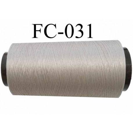 Cone de fil mousse polyamide n° 100/2 couleur gris longueur de 2000 mètres bobiné en France