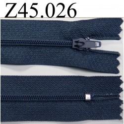 fermeture éclair longueur 45 cm couleur bleu non séparable zip nylon largeur 2.5 cm