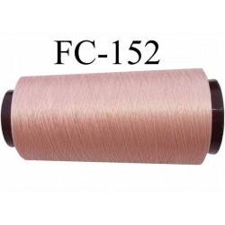 Cone de fil mousse polyamide fil n° 100/2 couleur rosé chair bois de rose longueur du cone 1000 mètres bobiné en France