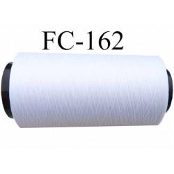 Cone de fil mousse texturé fin n° 160 superbe polyester couleur blanc longueur du cone 1000 mètres bobiné en France