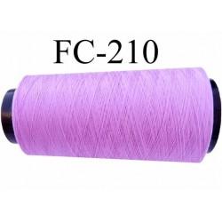 Cone de fil mousse polyester fil n° 120 couleur lilas parme longueur du cone 1000 mètres bobiné en France
