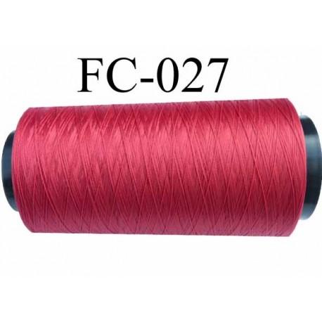 Cone de fil mousse polyamide fil n° 100/2 couleur rouge tirant sur le bordeau longueur 1000 mètres bobiné en  France