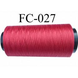 Cone de fil mousse polyamide fil n° 100/2 couleur rouge tirant sur le bordeau longueur 5000 mètres bobiné en  France