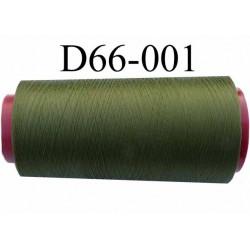 ( d'éstockage ) Cone de fil mousse polyamide Fil n° 120 couleur vert Kaki longueur  2000 mètres bobiné en France