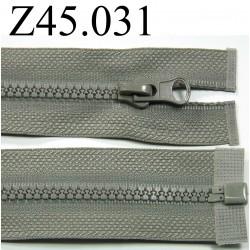 fermeture éclair  longueur 45 cm couleur gris séparable zip nylon largeur 3 cm largeur du zip 4 mm